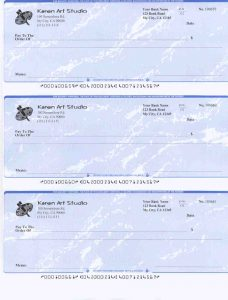 blank business check template preprinted per page blank check