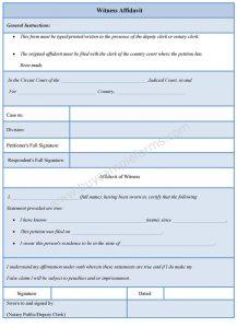 blank check template pdf witness affidavit form