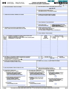 blank commercial invoice free canada customs commercial invoice template form ci excel blank canada customs invoice