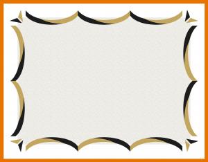 blank coupon template free award certificate template free certificate border black and gold png