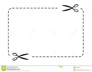 blank coupon template free cupon border vector scissors