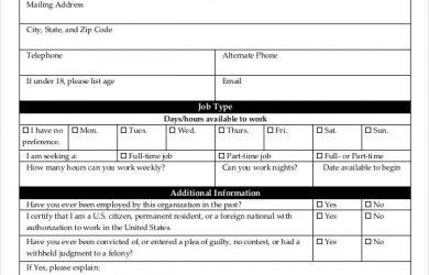 blank job application blank job application for employer