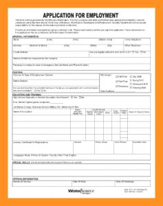 blank job application pdf blank employment application pdf