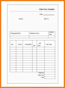 blank job application pdf blank order form template sample order form template