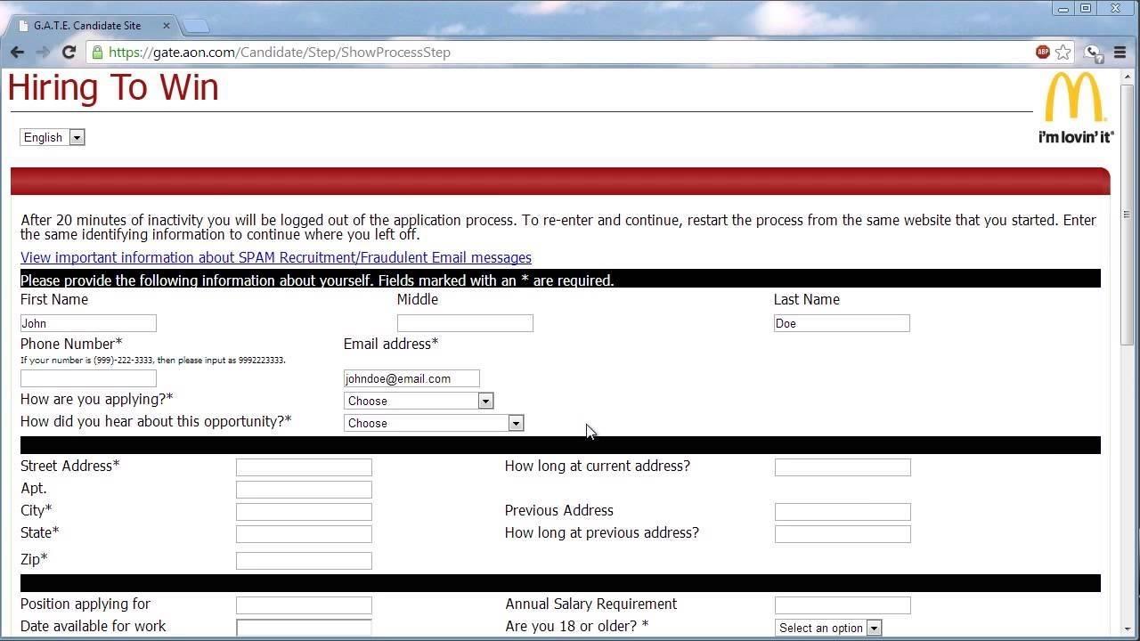 blank job application pdf