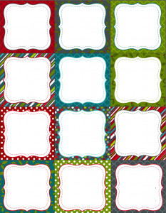 blank label template christmas labels blank