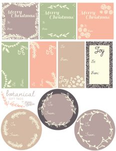blank label template gift tags