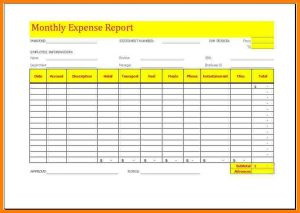 blank label template monthly expense report template monthly expense report