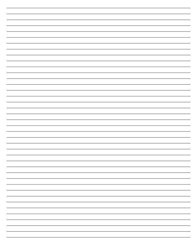 blank lined paper