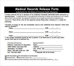 blank medical records release form medical records release form pdf