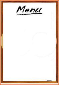 blank menu template blank menu template caedebfcdfd free weekly menu template clipart menu templates