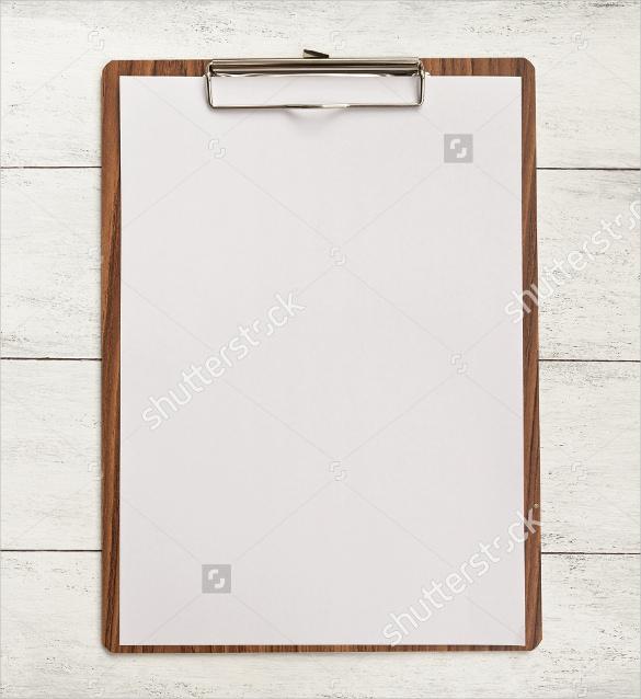 blank menu template