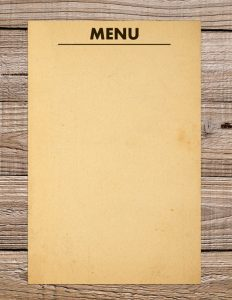 blank menu template sample blank menu template download