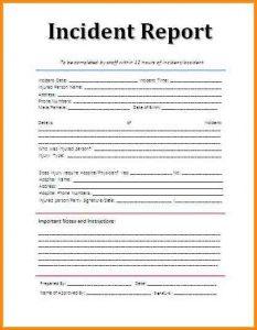 blank police report incident report sample adaceacd
