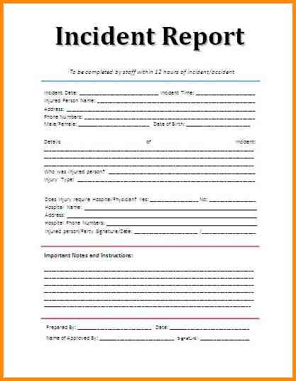 blank police report