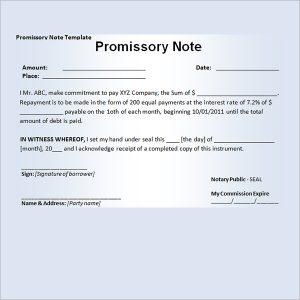blank promissory note promissory note template
