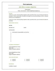 blank resume template blank free cv template page