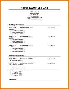 blank resume template blank resume template doc free high school resume template template