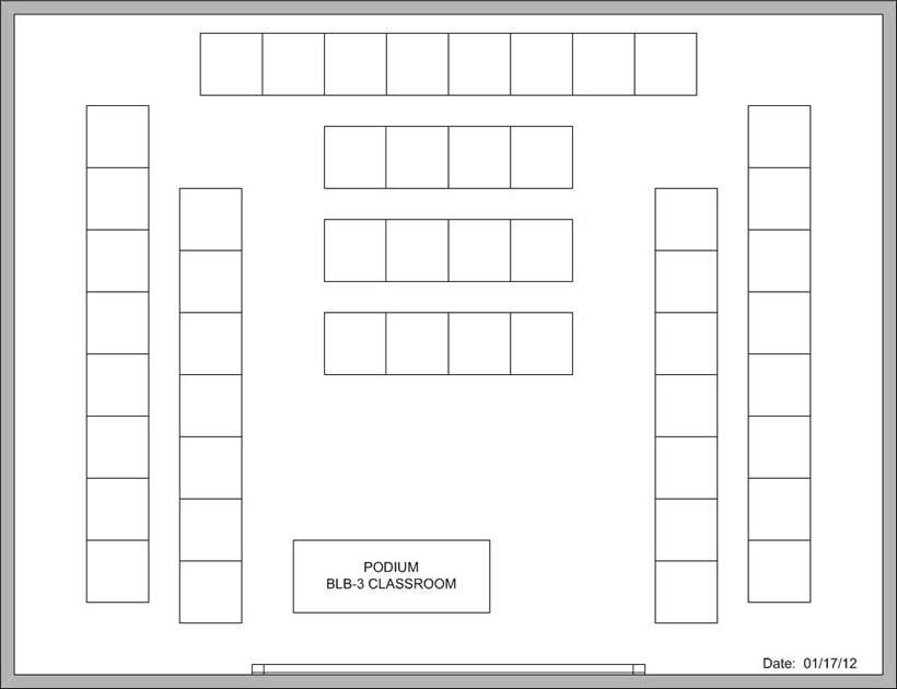 blank seating chart