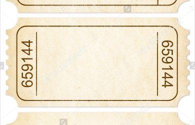 blank ticket template paper blank ticket
