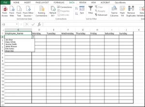 blank time sheet blog step