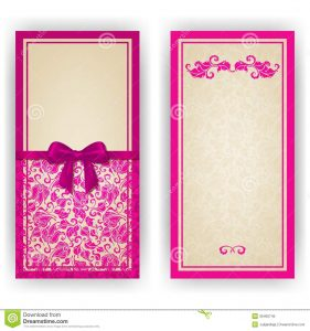 blank wedding invitation templates elegant vector template luxury invitation card lace ornament bow place text floral elements ornate background