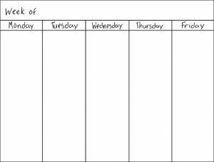 blank work schedule best photos of day calendar template word weekly schedule abry