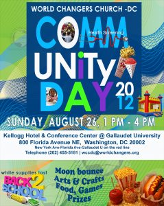 block party flier world changers church community day flyer