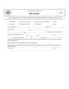 boat trailer bill of sale trailer bill of sale form utah l
