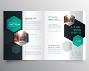 book cover template psd brochure template with hexagonal shapes