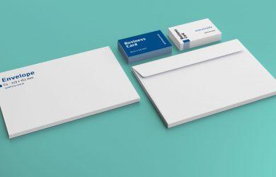 book mockup free free envelop business card mockup psd