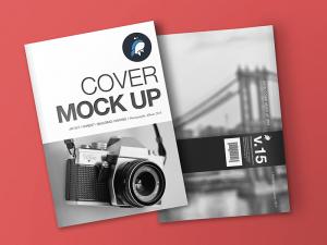 book mockup free free magazine and cover mockup