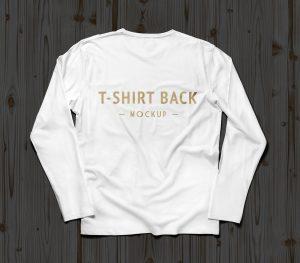book mockup free free white full sleeves t shirt mockup psd file
