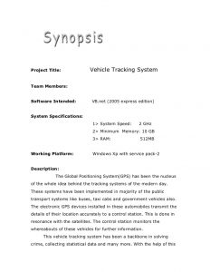 book outline example academic project vehicle tracking g d system synopsis
