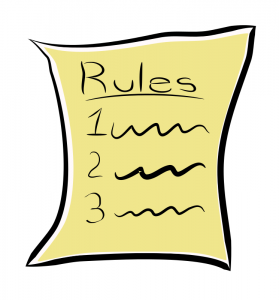 book outline example rules