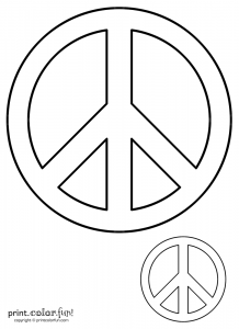book outline template peace signs