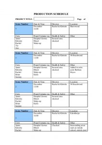 book outline template pre production templates