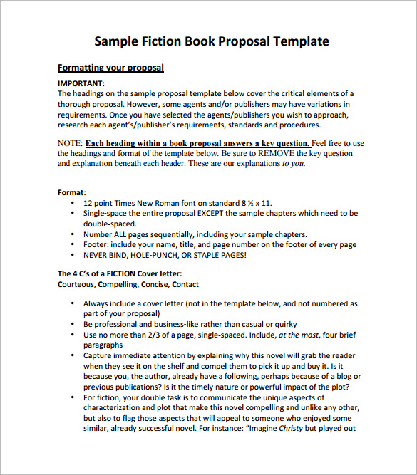 book proposal template