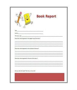 book report sample book report template x