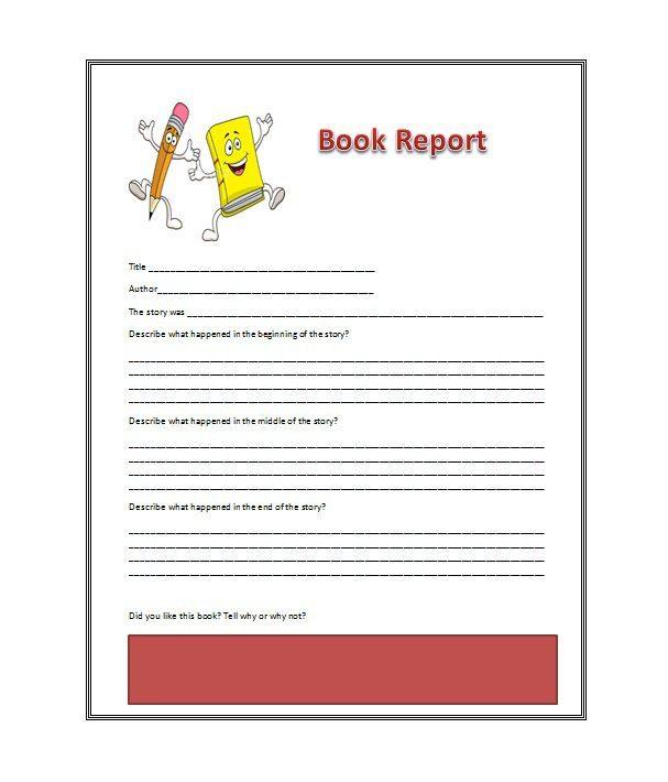 book report sample