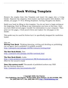 book writing template book writing layout template
