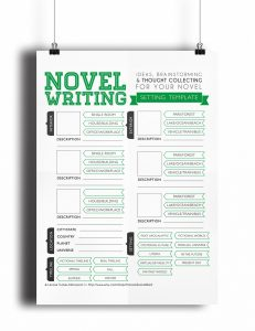 book writing template novel writing template v setting