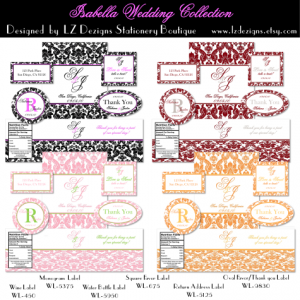 bottle labels templates isabella collage