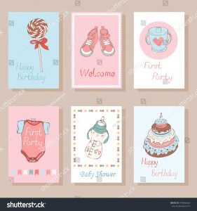 bottle labels templates stock vector set of creative cards for kids trendy collection templates for greeting gift cards brochures