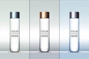 bottles mock up cylindrical water bottle mockup