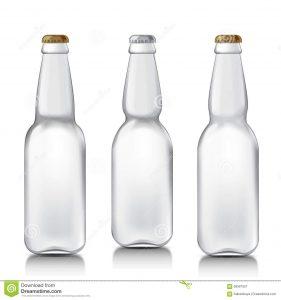 bottles mock up set realistic glass bottles transparent beer patterns ready your design mock up template ready your design