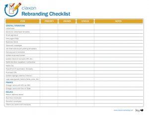 branding strategy template rebranding checklist