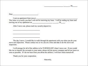 breaking lease letter apartment rent termination letter
