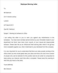 breaking lease letter employee warning letter template min
