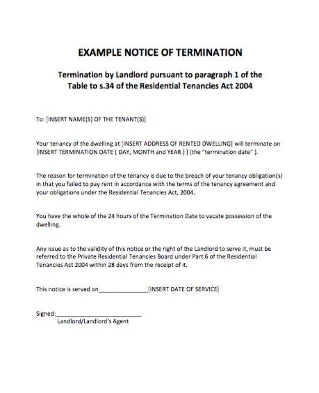 breaking lease letter
